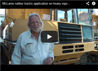 McLaren rubber tracks application on heavy equipment
